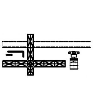 Запасная часть, крестообразная опорная пластина для TU Bessey 3100934